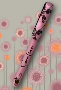 Coraline Barrel Pen Black Cats