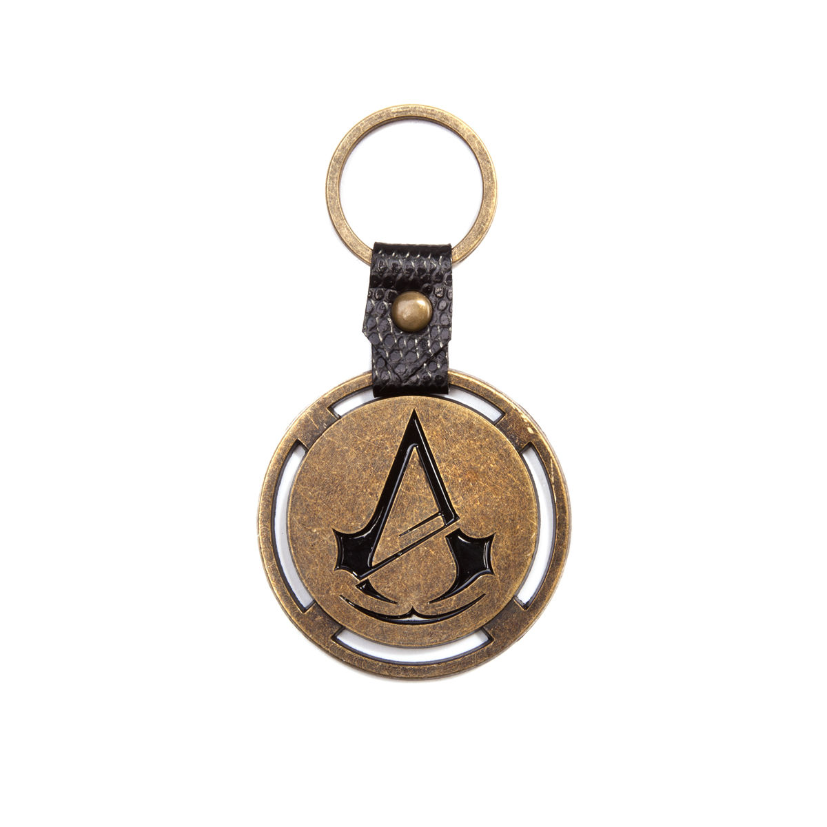 Assassins Creed:Metal Keyring with PU Snap